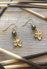 Earrings Viola Drop Flower Earrings