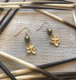Earrings Viola Drop Flower Earrings