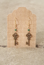 Earrings Fairy Key Earrings - Gold