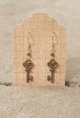 Earrings Fairy Key Earrings - Gold