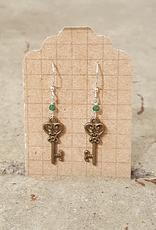 Earrings Fary Key Earrings - Silver