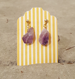 Earrings Raw Royal Amethyst Earrings