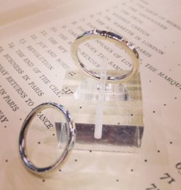 Rings Hammered and Pickled Silver Stacking Ring