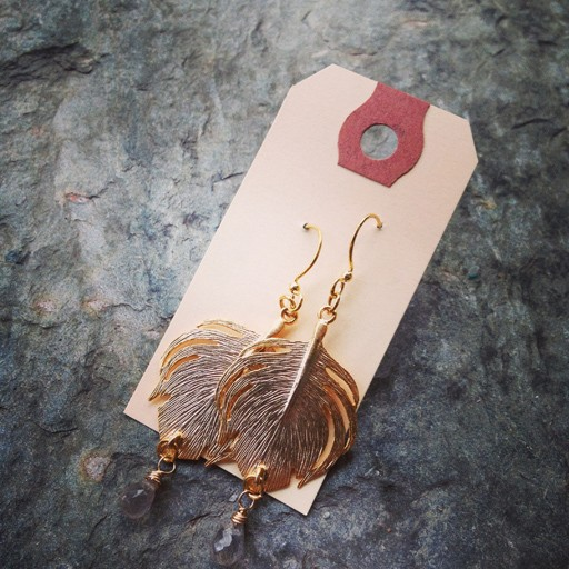 Earrings Rounded Feather Earrings