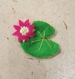 Brooches Bea's Felt Lily Pad