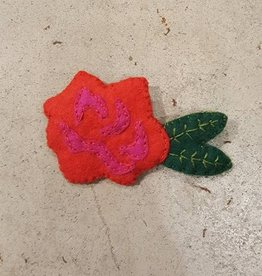 Brooches Bea's Felt Rose