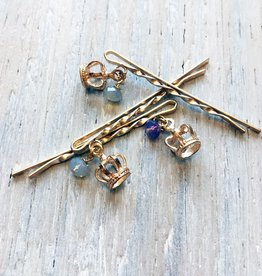 Accessories Womens Golden Crown Twisted Bobby Pin