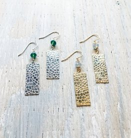 Earrings Salt Flats Rectangular Textured Earrings