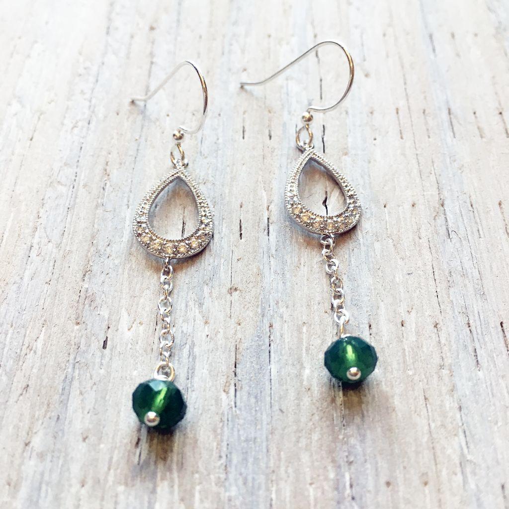 Earrings Denna Luxurious Droplet Earrings