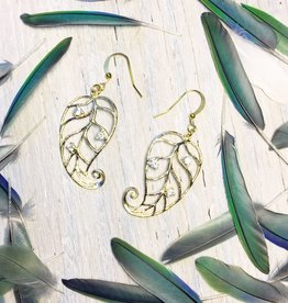 Earrings Jesa Curled Leaf Earrings