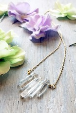 Necklaces Celebdil Mountain Necklace<br /> Quartz, Plated Chain.