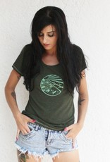 Tops Vancouver Paradise Scoop Heather Green
