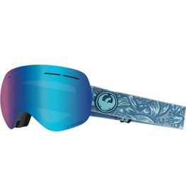 Dragon Dragon X1s Goggle - Plex w/Blue Ion + Free Lens