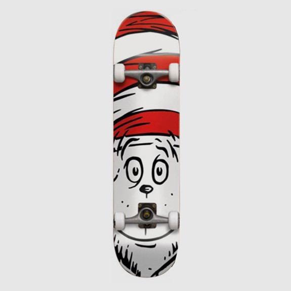 Almost Almost - Big Face Premium Complete Skateboard White - 8.0