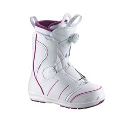 Salomon Salomon Pearl Boa Boot, White and Pink
