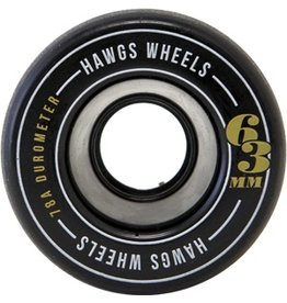 Hawgs Fattie Hawgs Longboard Wheels Black 63mm - 78a