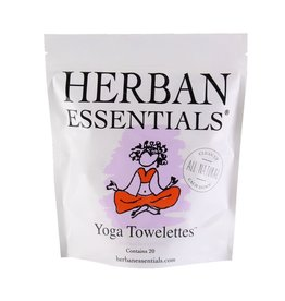 Herban Essentials 20 Individually Wrapped Yoga Towelettes
