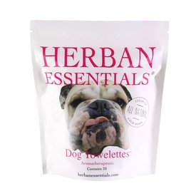 Herban Essentials 20 Individually Wrapped Pet Towelettes