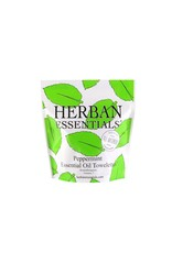 Herban Essentials 7 Individually Wrapped Peppermint Towelettes