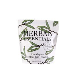 Herban Essentials 7 Individually Wrapped Eucalyptus Towelettes