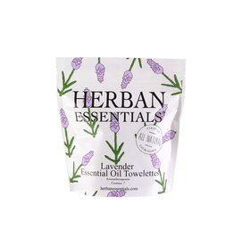 Herban Essentials 7 Individually Wrapped Lavender Towelettes
