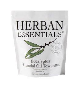Herban Essentials 20 Individually Wrapped Eucalyptus Towelettes