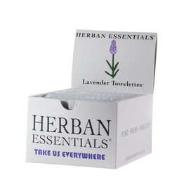 Boxes 20 Individually Wrapped Lavender Towelettes  - Boxed