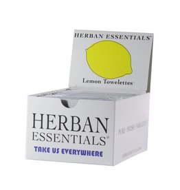 Boxes 20 Individually Wrapped Lemon Towelettes - Boxed