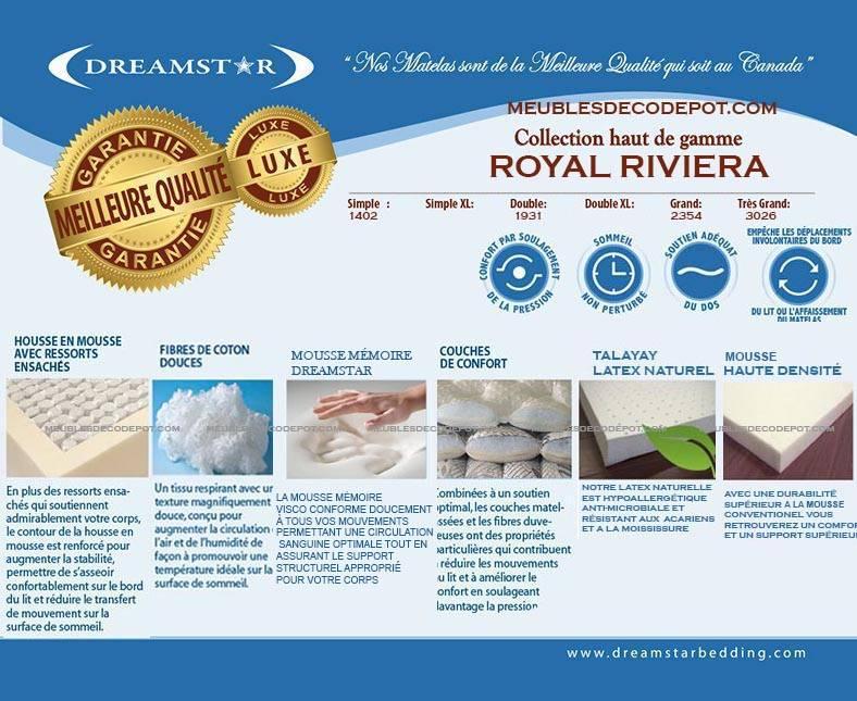 Royal Riviera Matelas 78 Dreamstar Meubles Déco Dépôt
