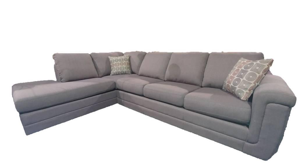 9849 leon sofa sectional taupe furniture deco depot