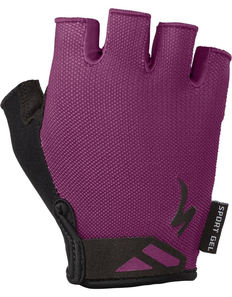 Specialized Women's Body Geometry Sport Gloves Cast Berry