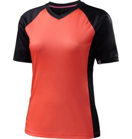 Specialized Women's Andorra Comp Jersey Carbon / Neon Coral