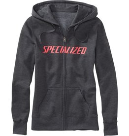 Specialized Women's Podium Hoodie Carbon / Acid Red