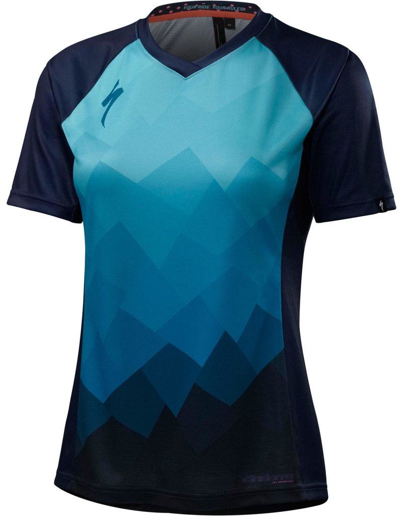 Specialized Women's Andorra Comp Jersey Turquoise Collage
