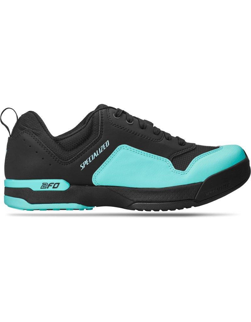 Specialized Women's 2FO ClipLite Lace MTB Shoes Black / Turquoise