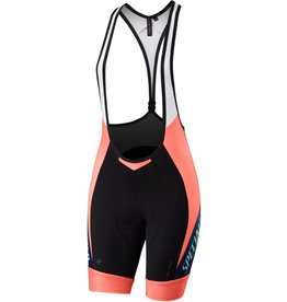 Specialized Women's SL Pro Bib Shorts Team Neon Coral / Navy