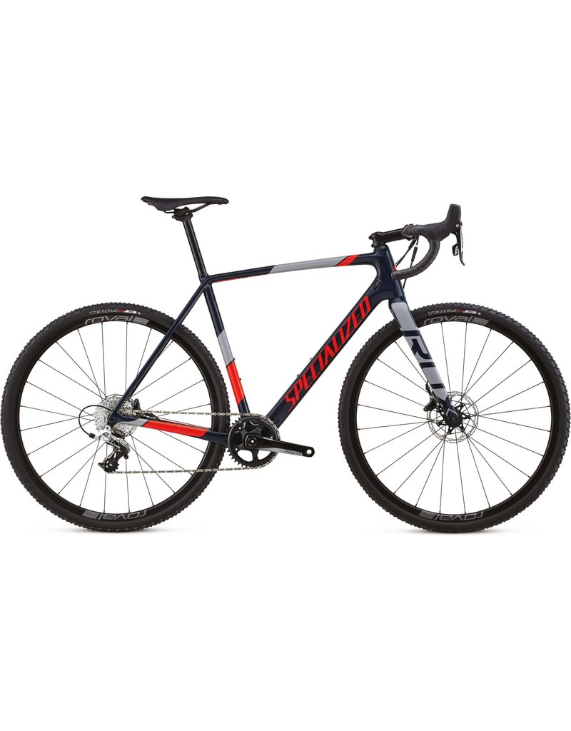 Specialized Crux Elite X1 - Cast Blue / Rocket Red / Cool Grey 58