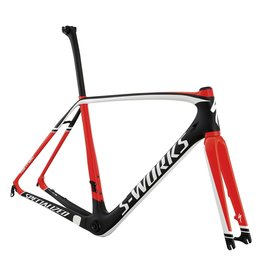 Specialized S-Works Tarmac Disc Frameset - Carbon / Rocket Red / White 54