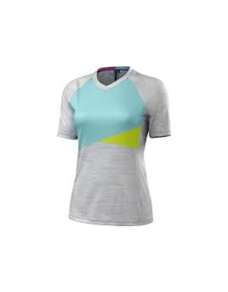 Specialized Women's Andorra Comp Jersey Grey / Teal