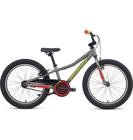 """Specialized Riprock Coaster 20"""" - Satin Sterling Grey / Nordic Red / Hyper Green"""