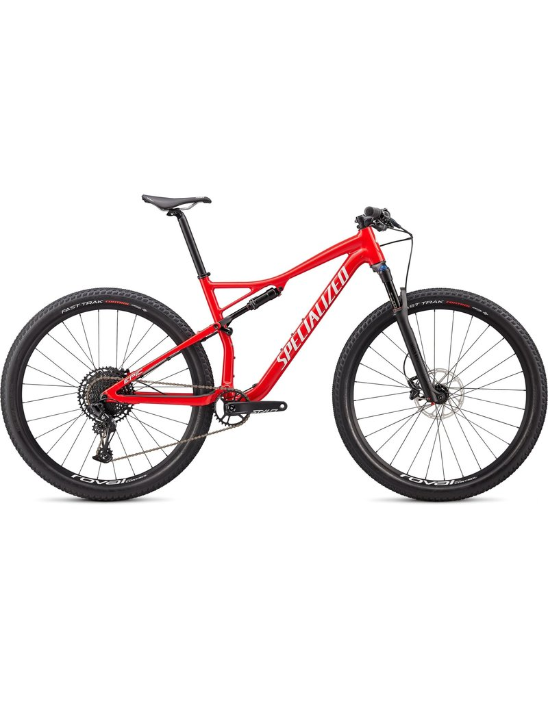 Specialized Epic Comp - Gloss Flo Red / Metallic White Silver