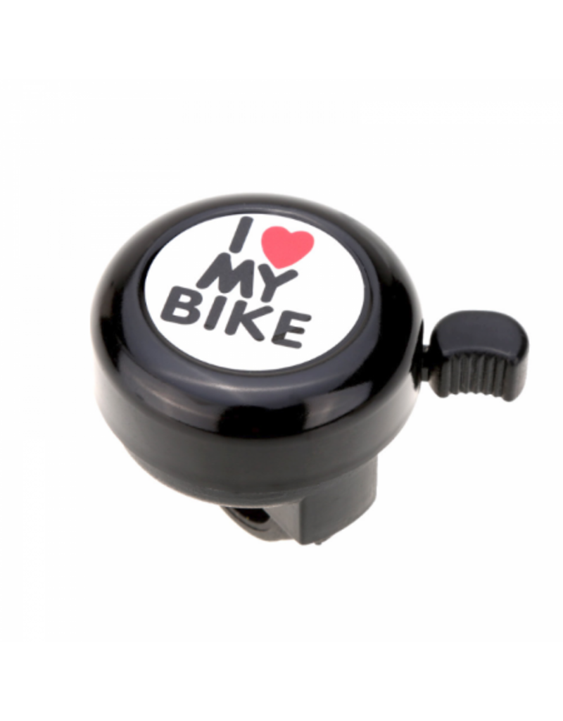 """Bike Bell """"I Love My Bike"""" - Black"""