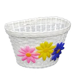 Kids Front Basket  - Flower / White