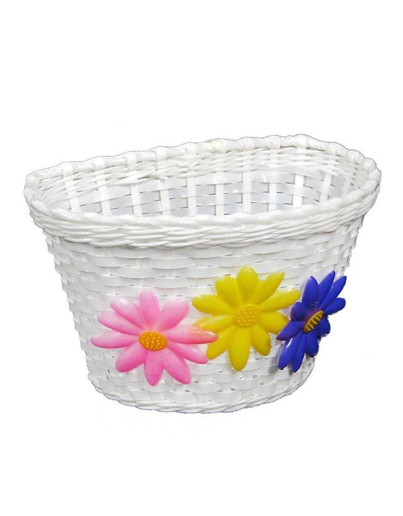 Kids Front Basket  - Flower / White