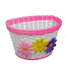 Kids Front Basket - Flower / Pink Trim