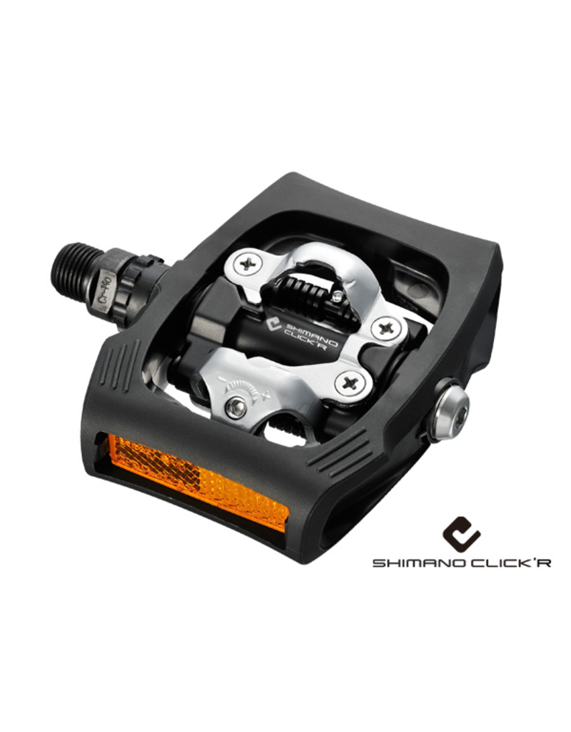 Shimano SPD Pedal, Black, With Reflector