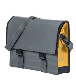 Basil Urban Load Messenger Bag - Stormy Grey/Gold