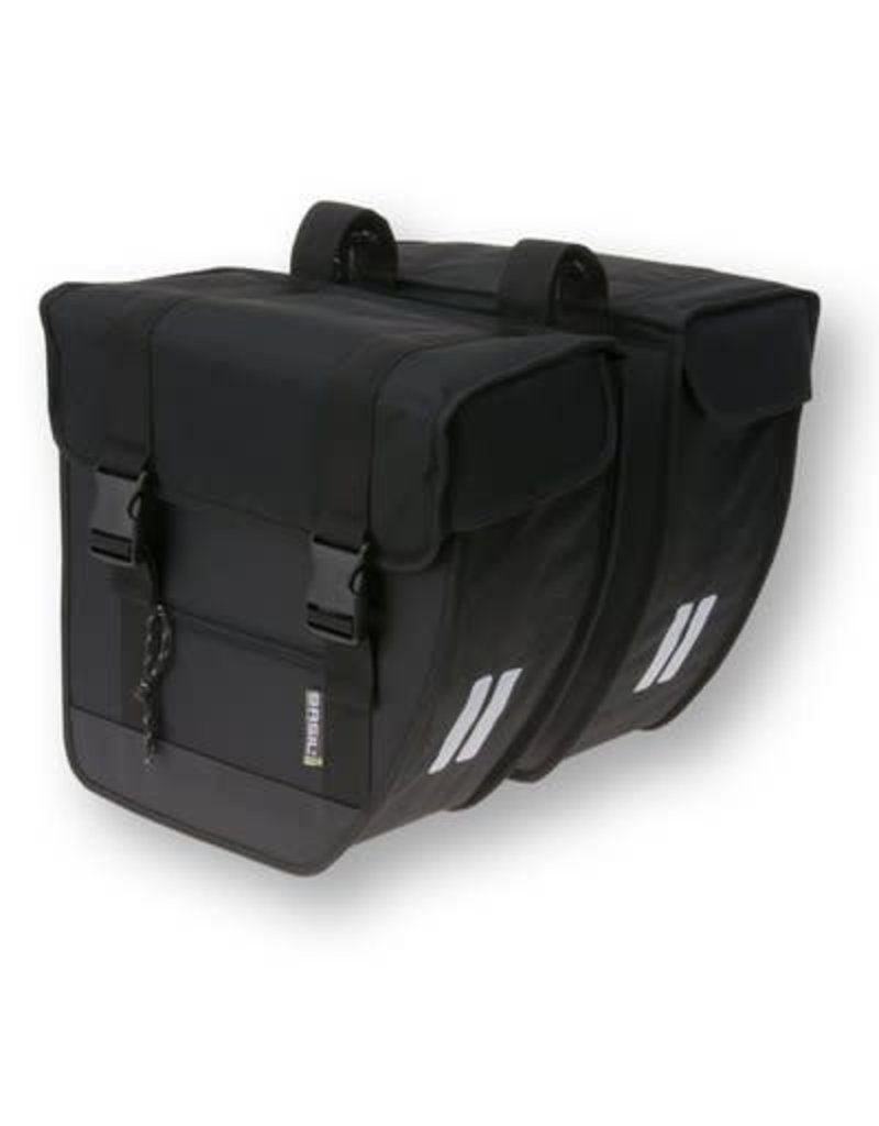 BASIL Tour XL, Double Pannier Bag 40L - Black