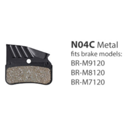 Shimano Metal Brake Pads, With Fin And Spring