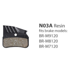 Shimano Resin Brake Pads, With Fin and Spring